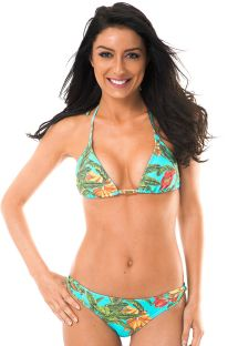 Tropical Brazilian bikini with twisted sides - MUSA PACIFICO