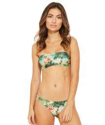 Tropical print bandeau bikini - OMEGA ISLA