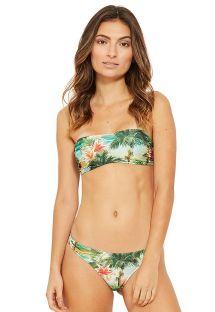 Bikini top a fascia stampa tropicale - OMEGA ISLA