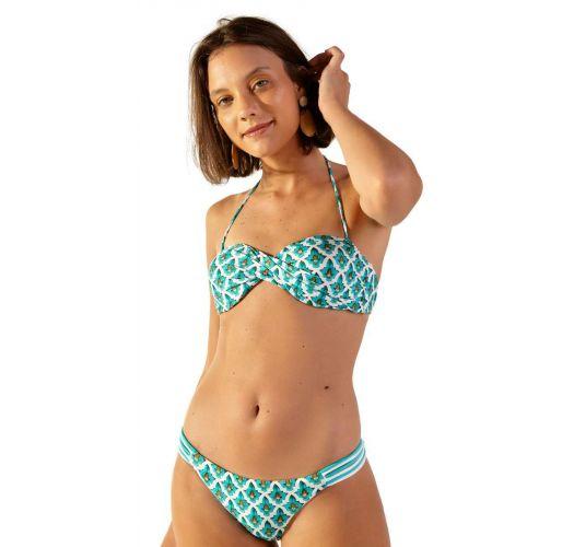 Mosaic printed Brazilian bandeau bikini - POP ZAGORA