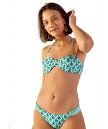 Verdrehter Bandeau-Bikini mit Mosaikmuster - POP ZAGORA