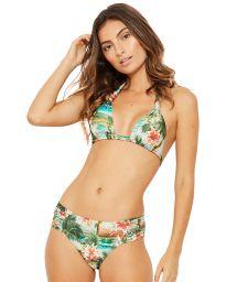 Larger-side tropical print halter bikini - PRADO ISLA