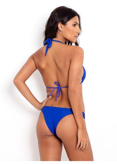 Blue triangle halter bikini - PRAIA DO ESPELHO