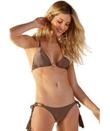 Scrunch-Bikini haselnussfarben, Seitenkordel - PRATA ANGEL CASTANHO