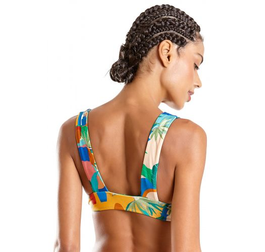 Colorful print wide straps bralette bikini - SUM CARTAGENA