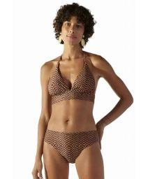 Brown ethnic longline bikini with high-leg bottom - SUNQUINE MAR GAYA
