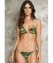 Waterlily-print Brazilian bathing costume - TAHITY VITORIA REGIA