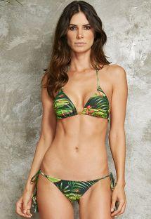 בגד ים בסגנון ברזילאי עם הדפסי פרחי נופר - TAHITY VITORIA REGIA