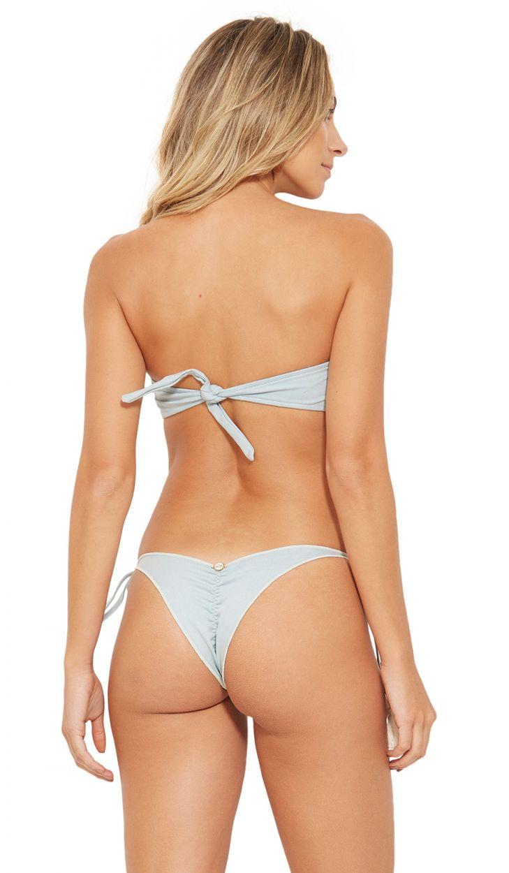 Grauer Bandeau-Bikini mit Quasten - TQC JEANS COLLAGE