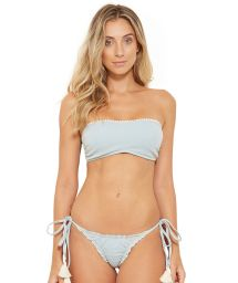 Grey bandeau bikini with tassels - TQC JEANS COLLAGE