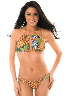 Unusual crop top bikini in mixed prints - TRIBO GLACIAL