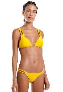 Bikini brasileño amarillo con cuerdas - UBATUBA LISO AMARELO