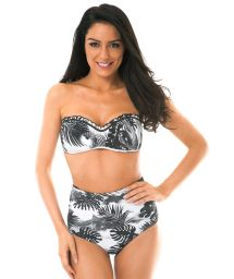 Tropical high-waisted two-piece swimsuit - VISUAL GIRLS