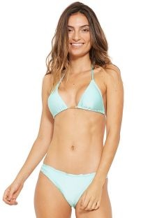 Fixierter Scrunch-Bikini in Himmelblau - WAVE VERDE FRAIS