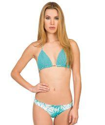Blue hand-made crochet triangle bikini - PALMA AZUL