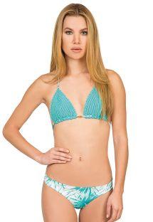 Blå trekant bikini med håndlavet hæklet materiale - PALMA AZUL