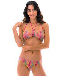 Bandeau multicolored crochet bikini - DALVA COLORIDO