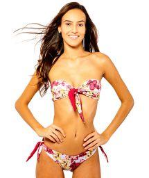 Floral tied bikini bandau - IRIS ORCHID