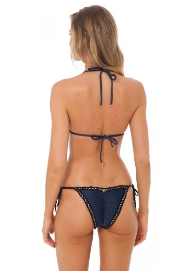 Marinblå bikini med vågiga kanter - ATHENA NAVY