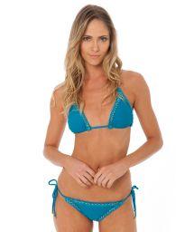 Luxurious blue Brazilian bikini with jagged edges - ATHENA TOURMALINE