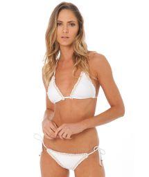 Lyxig bikini med rynkade kanter - ATHENA WHITE