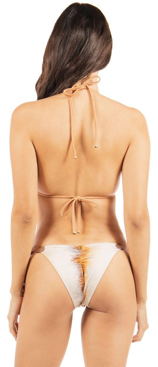 Bikini triangle luxe imprimé léopard réversible - BUZIOS DOUBLE WAKA WAKA