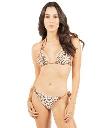 Reversible luxurious leopard print triangle bikini - BUZIOS DOUBLE WAKA WAKA