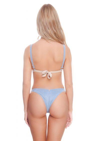 High-leg tricolor pastel Brazilian bikini - FIONA BK ARGENTO