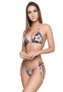 Floral camo Brazilian scrunch bikini - FROU FROU BK CAMO