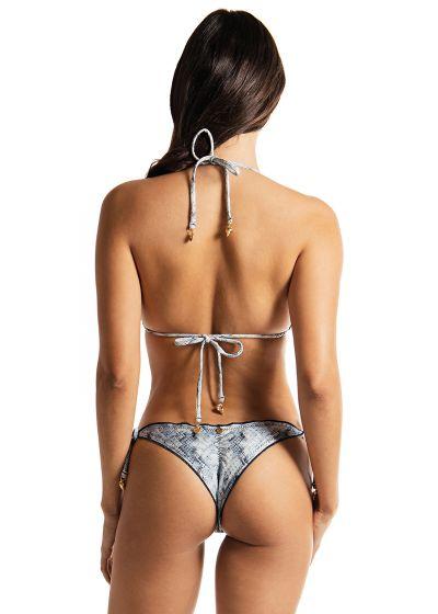 Bikini brésilien scrunch luxe imprimé serpent - FROU FROU BLUE PYTHON