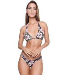 Floral camo triangle halter bikini - FROU FROU LONG TRI CAMO