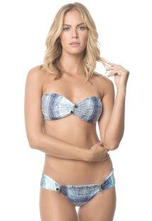 Bandeau bikini i blå nuancer med pynt - MIKONOS SPARKLING