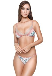 Floral Brazilian bikini with adjustable sides - NAOMI BK FLORAL