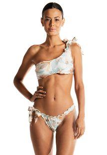 Luksusowe bikini bandeau z asymetrycznym nadrukiem - REBEL REBEL AQUARELA DO BRASIL