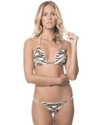 Animal triangle swimsuit with beads - SAVANNAH NEW SHELLY