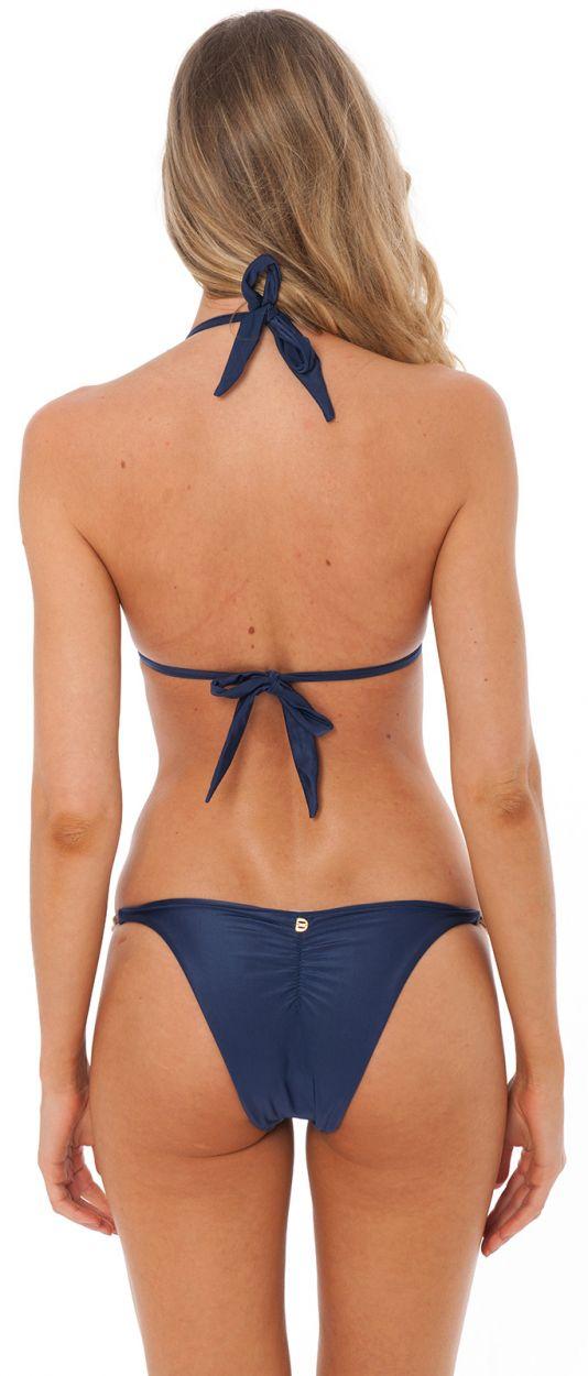 Marinblå brasiliansk bikini med odlade pärlor - SHELLEY NAVY