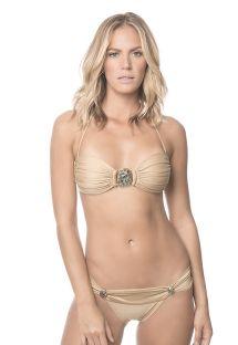 Kultainen korusomisteltu bandeau-bikini - SUNTAN ABALONE