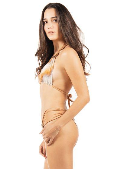 Reversible luxurious leopard scarf triangle bikini - VENUS DOUBLE WAKA WAKA