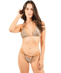 Reversible luxurious leopard scarf triangle bikini - VENUS DOUBLE WAKA WAKA