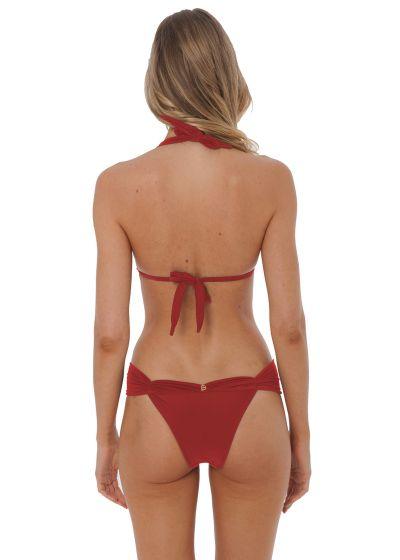 Dark red luxury triangle halter bikini - VENUS ROSSO