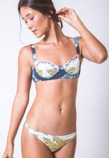 Balconette-Bikini mit Formbügeln in Mustermix - MEIA TACA ONCA DUPLA