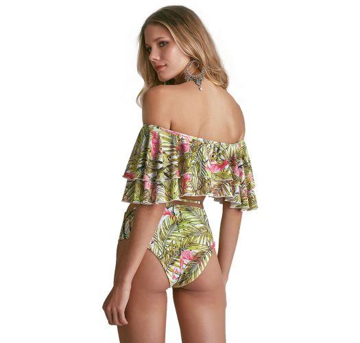 High-Waist-Bikinihose und Crop-Top, Volants - BABADINHO PELICANO