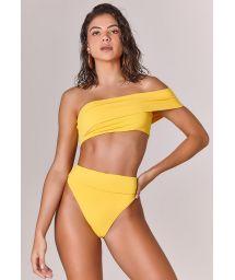 Bikini taille haute jaune hanches échancrées - BIQUINI OFF SHOULDER AMARELO