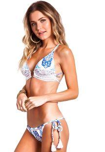 Blue triangle bikini with criss cross back - MAJORELLE AZUL