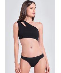 Asymmetrischer Crop-Top-Bikini mit Cut-Out - CREPE LUA PRETO
