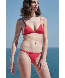 Red fixed triangle bikini with slim sides - MAX BIKINI RED