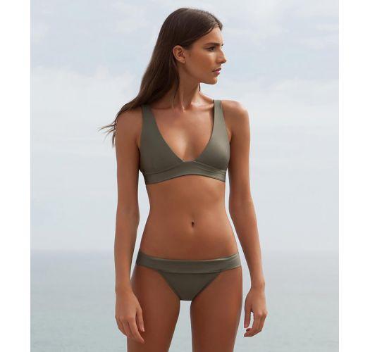 Brazilian bra bikini in green khaki  - V MILITAR