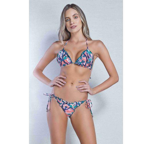 Gemusterter Scrunch-Bikini, gewellte Ränder - FRU FRU PINCEL