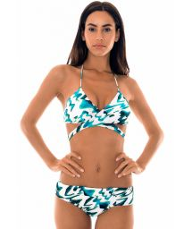 Two-tone bikini with criss-cross top - ABSTRATO CRUSADO