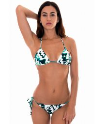 Two-tone printed brazilian bikini - ABSTRATO MINI